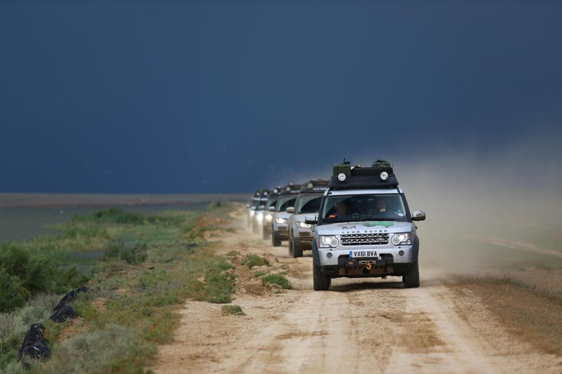 hybrid range rovers get halfway - overland travel